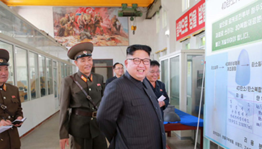 Kim Jong Un Inspects Chemical Material Institute of Academy of Defense Science