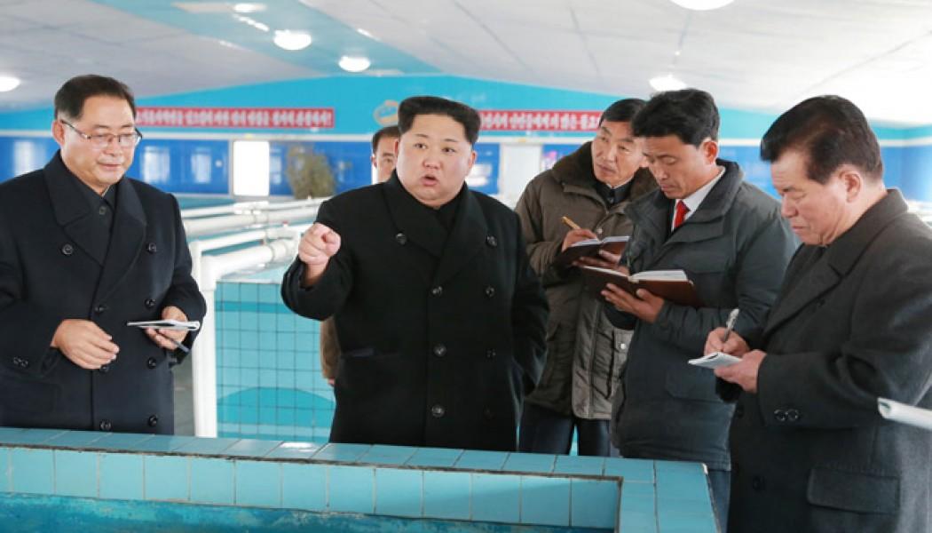 Kim Jong Un Inspects Newly-built Sunchon Catfish Farm