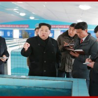Kim Jong Un Inspects Newly-built Sunchon Catfish Farm