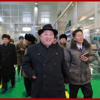 Kim Jong Un Inspects Newly-built Samjiyon Potato Farina Production Factory
