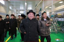 Kim Jong Un Inspects Newly-built Samjiyon Potato Farina Production Factory