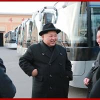 Kim Jong Un Inspects Pyongyang Trolley Bus Factory
