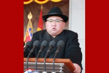 Kim Jong Un Makes Congratulatory Speech at Military Parade