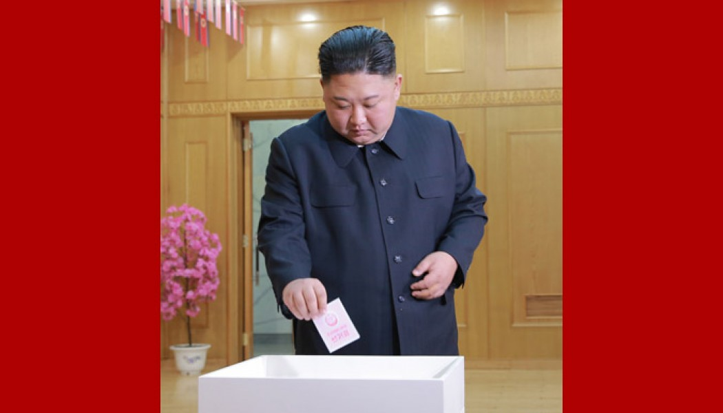 Supreme Leader Kim Jong Un Takes Part in Election of Deputies to SPA