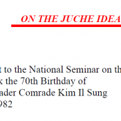 ON THE JUCHE IDEA